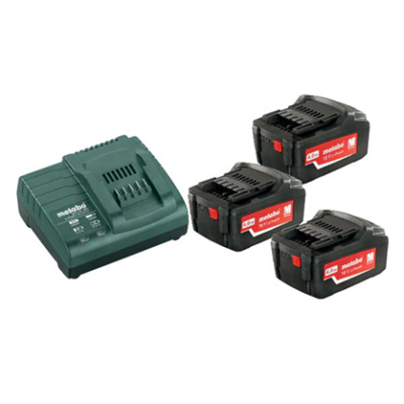 Metabo 4.0 Ah Battery kit x 3